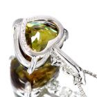 スフェーン2.3ct ダイヤモンド ハートシェイプ プラチナ ネックレス