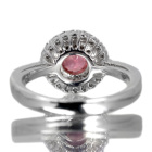 パパラチャサファイア 0.8ct ダイヤモンド プラチナ リング(指輪)
