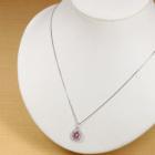 非加熱ピンクサファイア1.0ct ダイヤモンド プラチナ ネックレス
