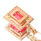 スイートホーム鉱山産ロードクロサイト1.7ct ダイヤモンド ピンクゴールド ネックレス