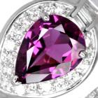 グレープガーネット(ロードライト)2.0ct ダイヤモンド プラチナ リング(指輪)