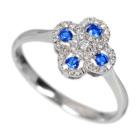 ロシア産デマントイドガーネット&アウイナイトダイヤモンド プラチナ リング(指輪)