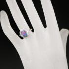 オーストラリア産ブラックオパール1.17ct ダイヤモンド0.7ct プラチナ リング(指輪)