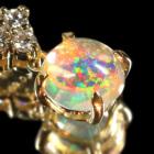 メキシコオパール 0.6ct ダイヤモンド イエローゴールド ネックレス