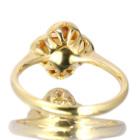 シトリン フラワーモチーフ ベゼルセッティング イエローゴールド リング(指輪)