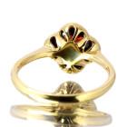 ガーネット フラワーモチーフ ベゼルセッティング イエローゴールド リング(指輪)