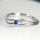 アウイナイト 0.02ct ダイヤモンド プラチナ リング(指輪)
