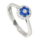 アウイナイト 0.1ct ダイヤモンド プラチナ リング(指輪)