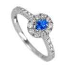 アウイナイト 0.2ct ダイヤモンド プラチナ リング(指輪)