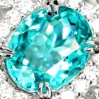 ネオンブルーアパタイト 1.0ct ダイヤモンド プラチナ ネックレス