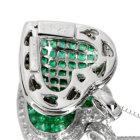 エメラルド 3.0ct ダイヤモンド ミステリーセッティング ホワイトゴールド ネックレス