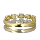 エチオピア産ウェロオパール 0.2ct イエローゴールド リング(指輪)