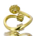 ブラウンイエローダイヤモンド/FDBY 0.4ct ダイヤモンド 0.5ct イエローゴールド リング(指輪)