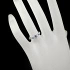 ブラジル産アレキサンドライト0.3ct アウイナイト ダイヤモンド プラチナ リング(指輪)
