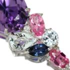 アメシスト 3.7ct マルチカラー&ダイヤモンド ホワイトゴールド ネックレス