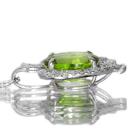 ペリドット 3.5ct ダイヤモンド ホワイトゴールド ネックレス