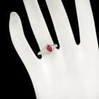 ルビー 0.4ct ダイヤモンド 0.1ct プラチナ リング