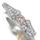 ピンクダイヤモンド 0.2ct/FLPP ダイヤモンド プラチナ・ピンクゴールド リング(指輪)