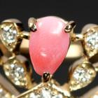 コンクパール 0.3ct ダイヤモンド ピンクゴールド リング(指輪)