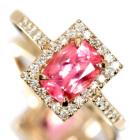 スイートホーム鉱山産ロードクロサイト 1.07ct ダイヤモンド ピンクゴールド リング(指輪)