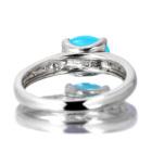 カルセドニー 3.7ct ダイヤモンド ホワイトゴールド リング(指輪)