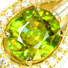 スフェーン 2.2ct ダイヤモンド イエローゴールド ネックレス