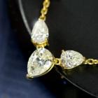 ダイヤモンド 1.01ct ペアシェイプ イエローゴールド ネックレス