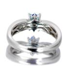 パライバトルマリン 0.1ct アウイナイト ダイヤモンド ホワイトゴールド リング(指輪)