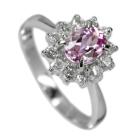 ピンクインペリアルトパーズ 0.8ct ダイヤモンド プラチナ リング(指輪)