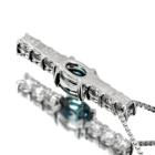 ブラジル産アレキサンドライト 0.2ct ダイヤモンド プラチナ ネックレス