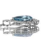 アクアマリン 5.2ct ダイヤモンド プラチナ ネックレス