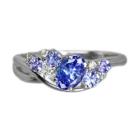タンザナイト 0.7ct ダイヤモンド ホワイトゴールド リング(指輪)