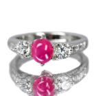 ビルマ産スタールビー 1.8ct ダイヤモンド プラチナ リング(指輪)