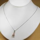 モルガナイト 2.3ct ダイヤモンド ホワイトゴールド ネックレス