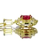 非加熱ルビー 0.9ct ダイヤモンド イエローゴールド ネックレス