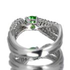 ロシア産デマントイドガーネット 0.6ct ダイヤモンド プラチナ リング(指輪)