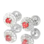 コンクパール 計0.44ct ダイヤモンド プラチナ ピアス