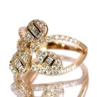ダイヤモンド 0.9ct ピンクゴールド リング(指輪)