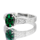 トラピッチェエメラルド 0.7ct ダイヤモンド プラチナ リング(指輪)
