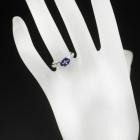 タンザナイト 1.4ct ダイヤモンド ホワイトゴールド リング(指輪)