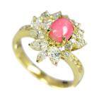 コンクパール 約1ct ダイヤモンド イエローゴールド リング(指輪)