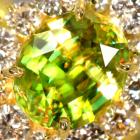 スフェーン 1.7ct ダイヤモンド イエローゴールド リング(指輪)