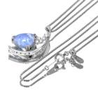 デュモルチェライト 2.2ct ダイヤモンド プラチナ ネックレス
