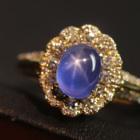 スターサファイア 2.4ct ダイヤモンド イエローゴールド リング(指輪)