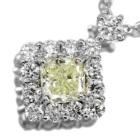 イエローダイヤモンド 0.3ct ダイヤモンド プラチナ ネックレス