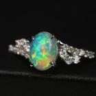 エチオピア産ウェロオパール 0.7ct ダイヤモンド プラチナ リング(指輪)