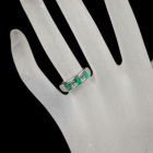 コロンビア産エメラルド 0.7ct ダイヤモンド 0.5ct プラチナ リング(指輪)
