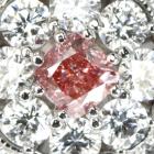 ピンクダイヤモンド FIP/VS2 0.309ct ダイヤモンド(H&C) プラチナ リング(指輪)
