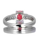 コンクパール 0.9ct ダイヤモンド プラチナ リング(指輪)