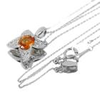 スペサタイトガーネット 1.2ct ダイヤモンド プラチナ ネックレス